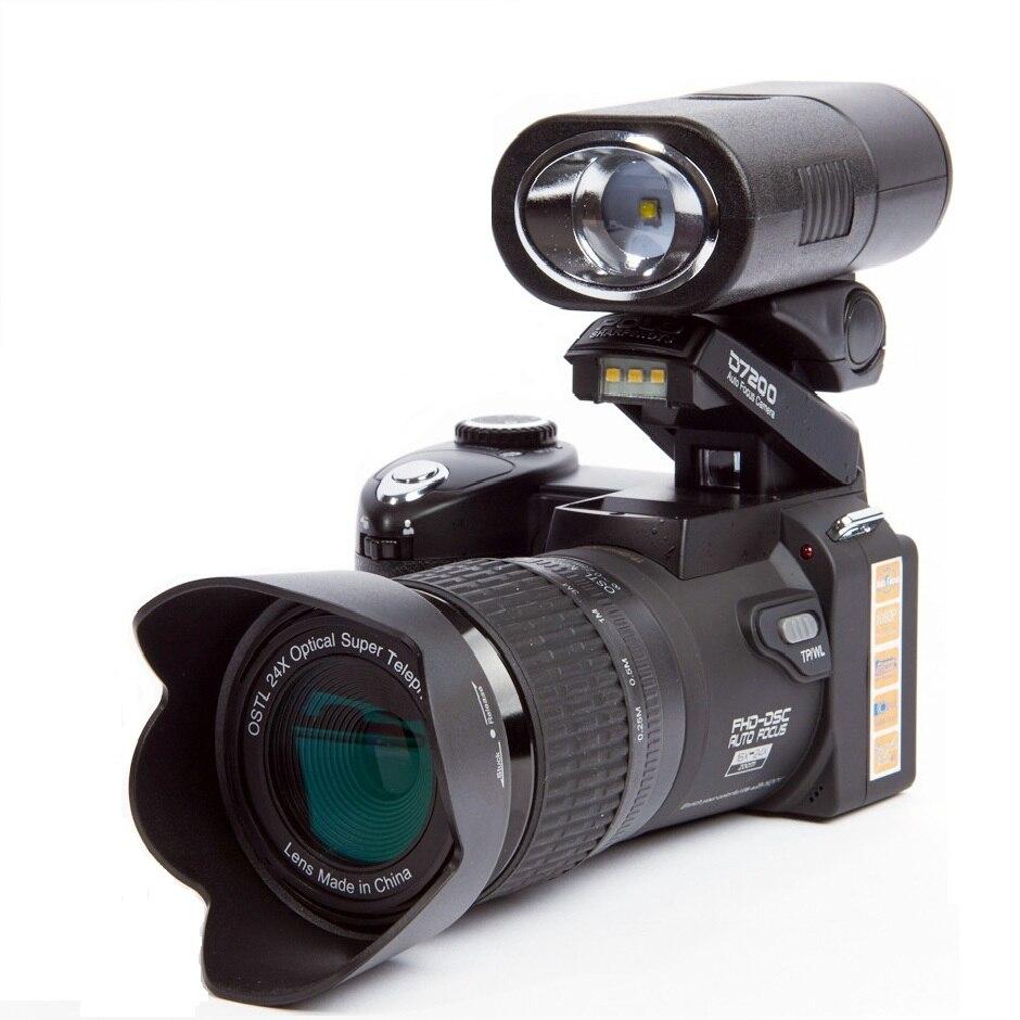 POLO Sharpshots D7200 appareil photo numérique 33 millions de pixels Auto Focus professionnel 24X Zoom optique appareil photo reflex vidéo avec trois objectifs