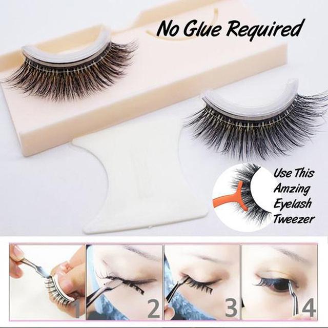 Self-Adhesive Natural Curly Eyelashes