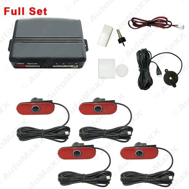 Auto Original Style 4PCS Sensors Car Reverse Backup Beep Alarm Radar Parking Sensor #J-1357