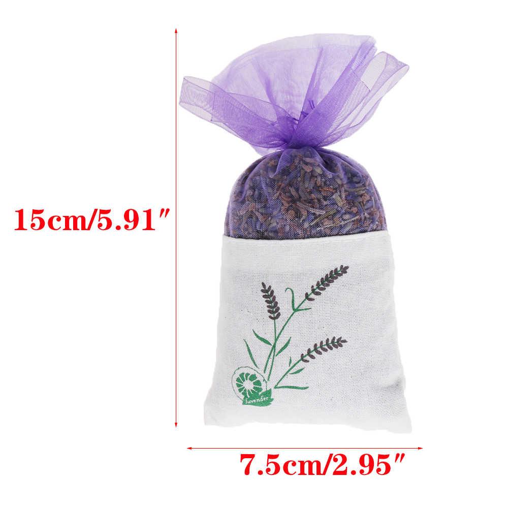 Odświeżacze powietrza Lavender Bud suszony kwiat saszetka aromaterapia aromatyczna szafa domowa samochód LavenderIndoor dezodorujący