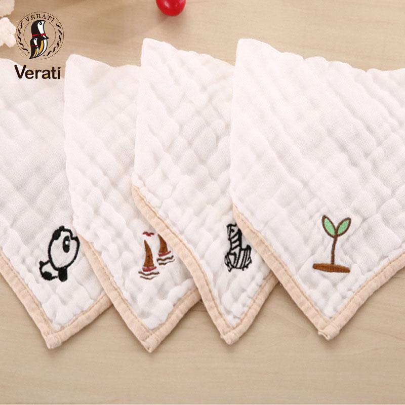 VERATI 1 PC Miękka Bawełna Ręcznik Haft Noworodki Karmienie - Odzież dla niemowląt - Zdjęcie 3