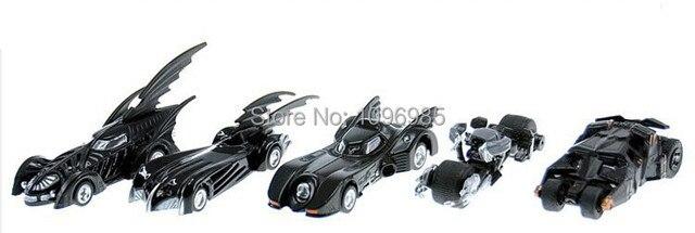 5pcs Avengers Batman Car Toys Tomica Tomy Dark Knight Batmobile Car