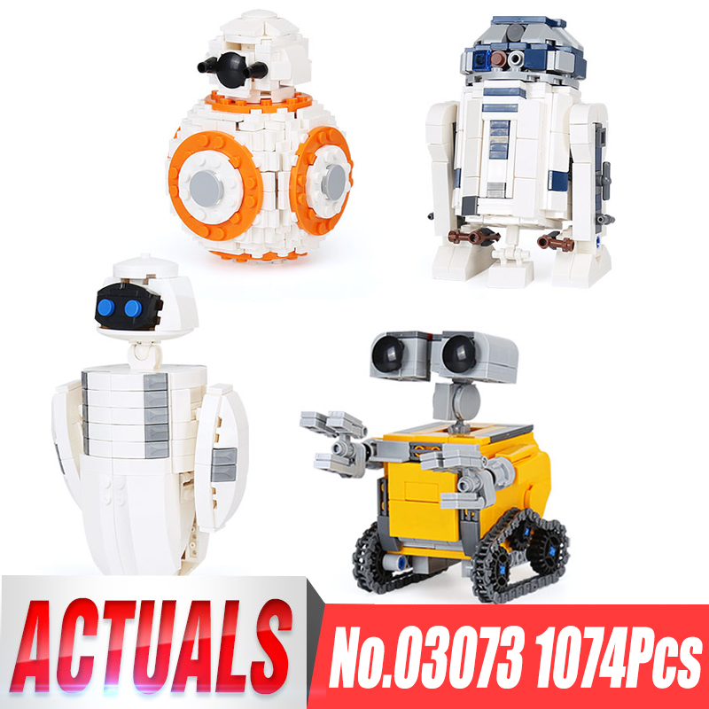 Lepin 03073 Genuine Movie Series The Four Robots In One Set Building Blocks Bricks Funny Toys As Christmas New Year Kid`s Gifts lepin 16045 genuine 775pcs creative series the ship in the bottle set building blocks bricks toys model gifts