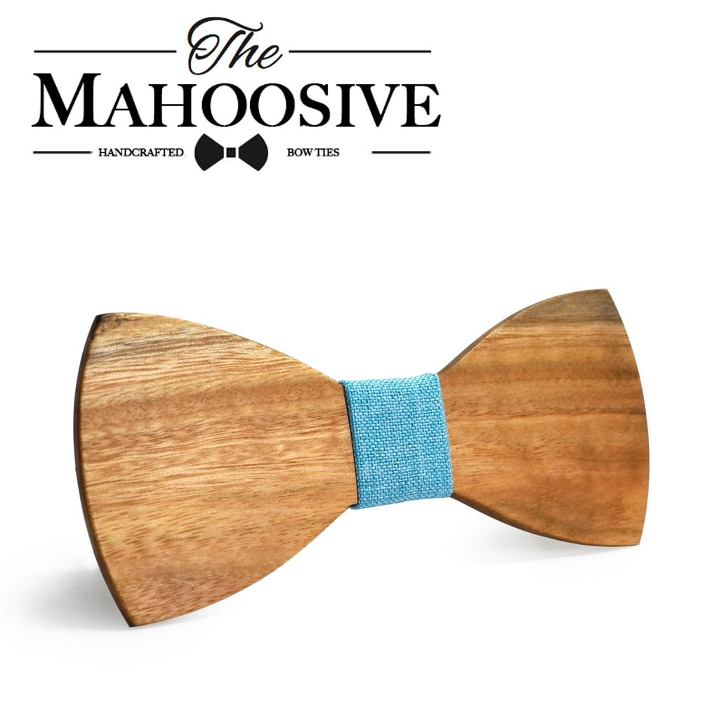 MAHOOSIVE Klassische 100% Soild Holz Mens Ties Neues Design Krawatten - Bekleidungszubehör - Foto 3