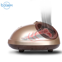 BOLIKIM Shiatsu Reflexology Vibrating Roller Foot Massager Health Massage Infrared Heating Electric Automaton Heating Machine