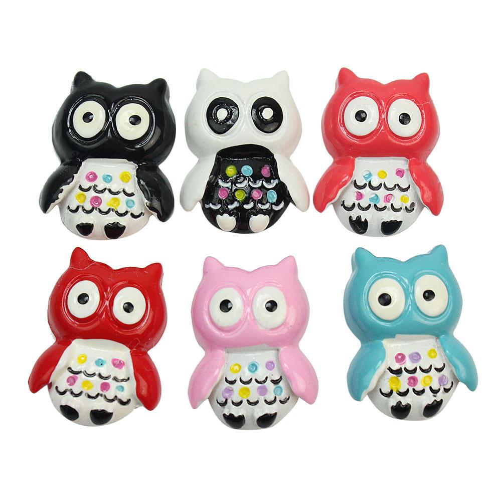 6pcs/Lot Cute Cartoon Owl Fridge Magnets Whiteboard Sticker Animal ...