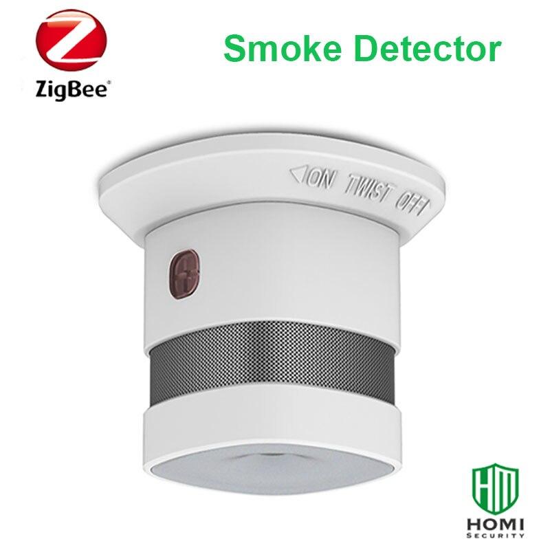 CE ROHS EN14604 Approved Zigbee Smoke Fire Detector Wireless 85db Smoke Alarm Sensor
