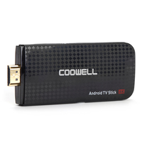 Oryginalny S905X Coowell V5 Android 6.0 TV Stick Amlogic Quad-core 2.4G WiFi HDMI Smart Media Player Wsparcie DLNA 3D Movie Tv box