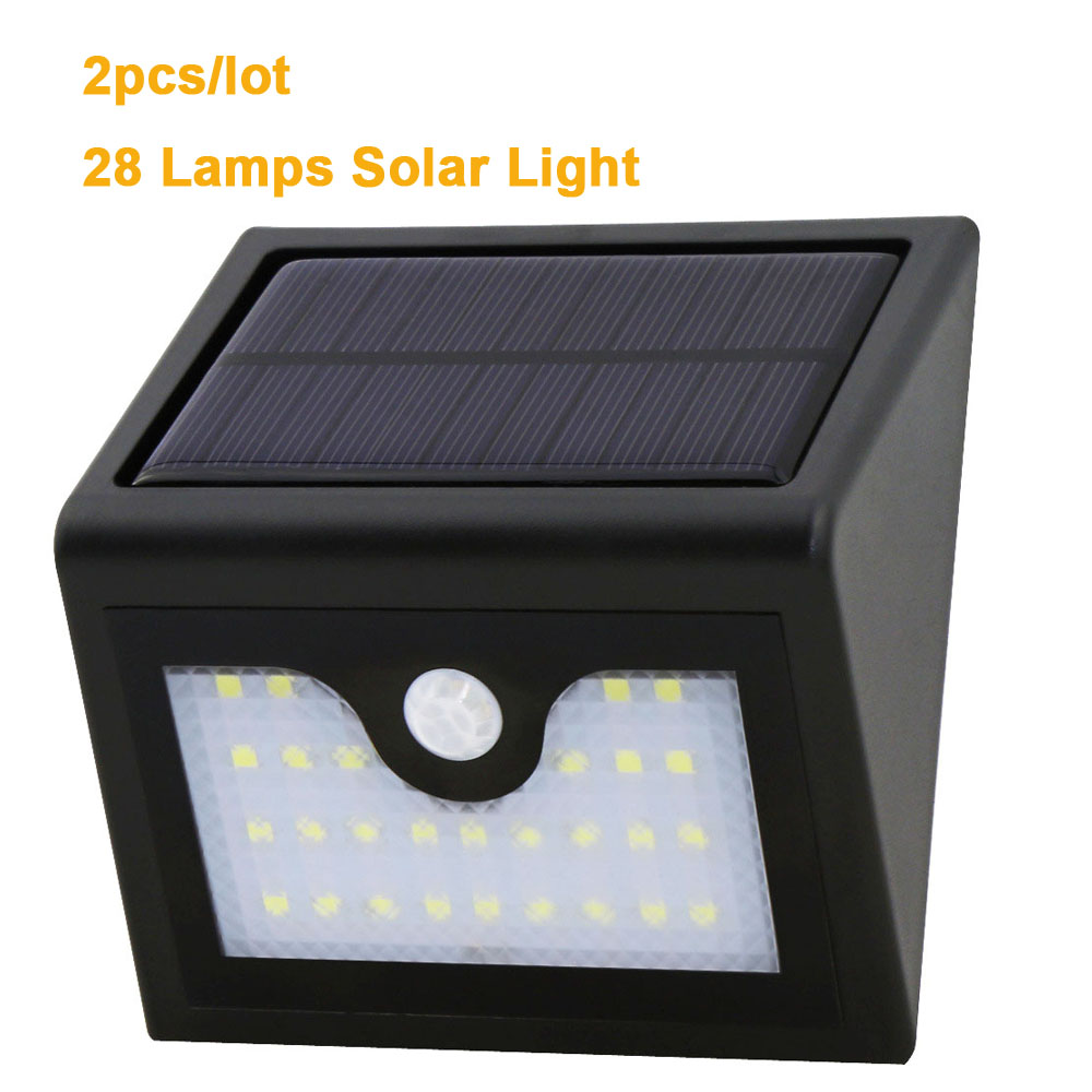Solar Outdoor Lights No Batteries: 2pcs/lot Waterproof Outdoor LED Light Garden Security Lamp