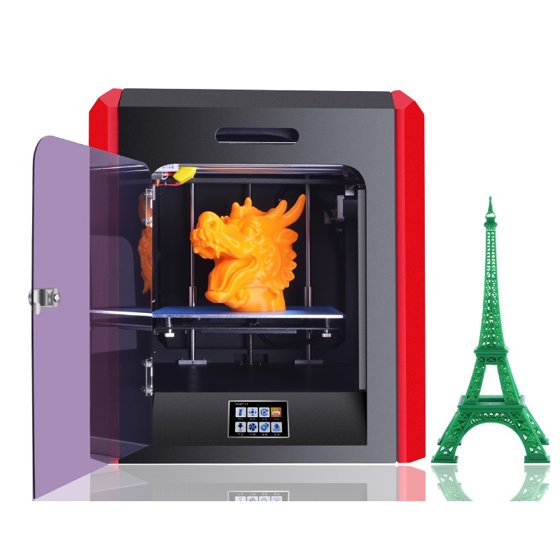 Free 1kg PLA Filament FDM Metal 3D Printer 200 200 200mm 0 1mm High Precision Touch