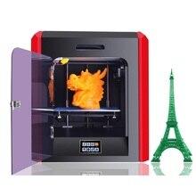 Бесплатно 1 кг Нити PLA FDM Металла 3d-принтер 200*200*200 мм 0.1 мм высокая Точность Сенсорного Экрана Тепла Кровать 3D Принтер Машины для