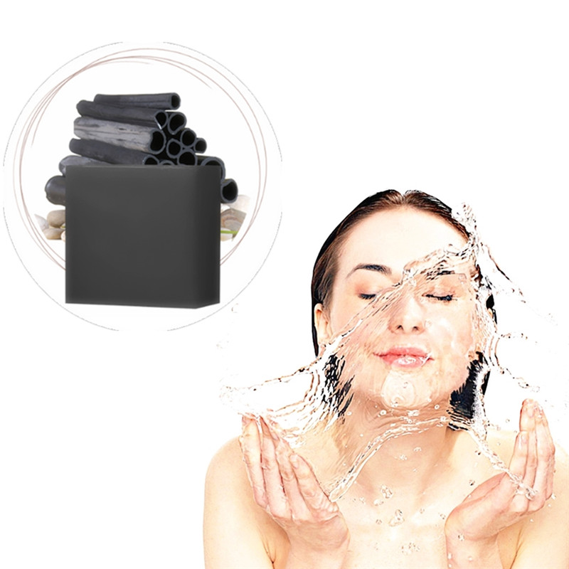 DISAAR Black Head Remover Handmade Soap Pore Strips Black Soap Bamboo Charcoal Acne Treatment Pores Deep Cleansing Oil Control