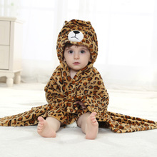 Cartoon Design Hooded Baby Sleepwear