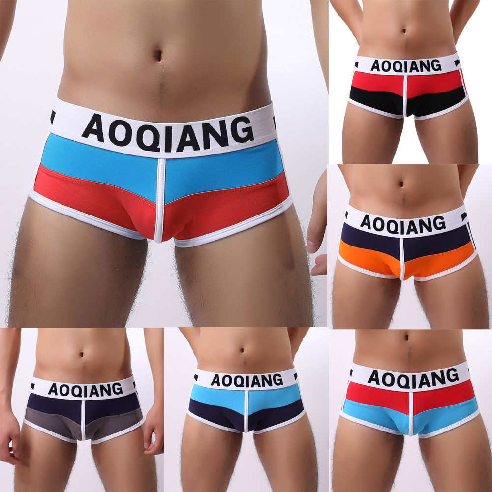 2018 New Fashion Mens Hot Sexy Underwear Cotton Boxer Boxers Shorts Breathable Comfortable Underpant For Men Drop Shipping ...
