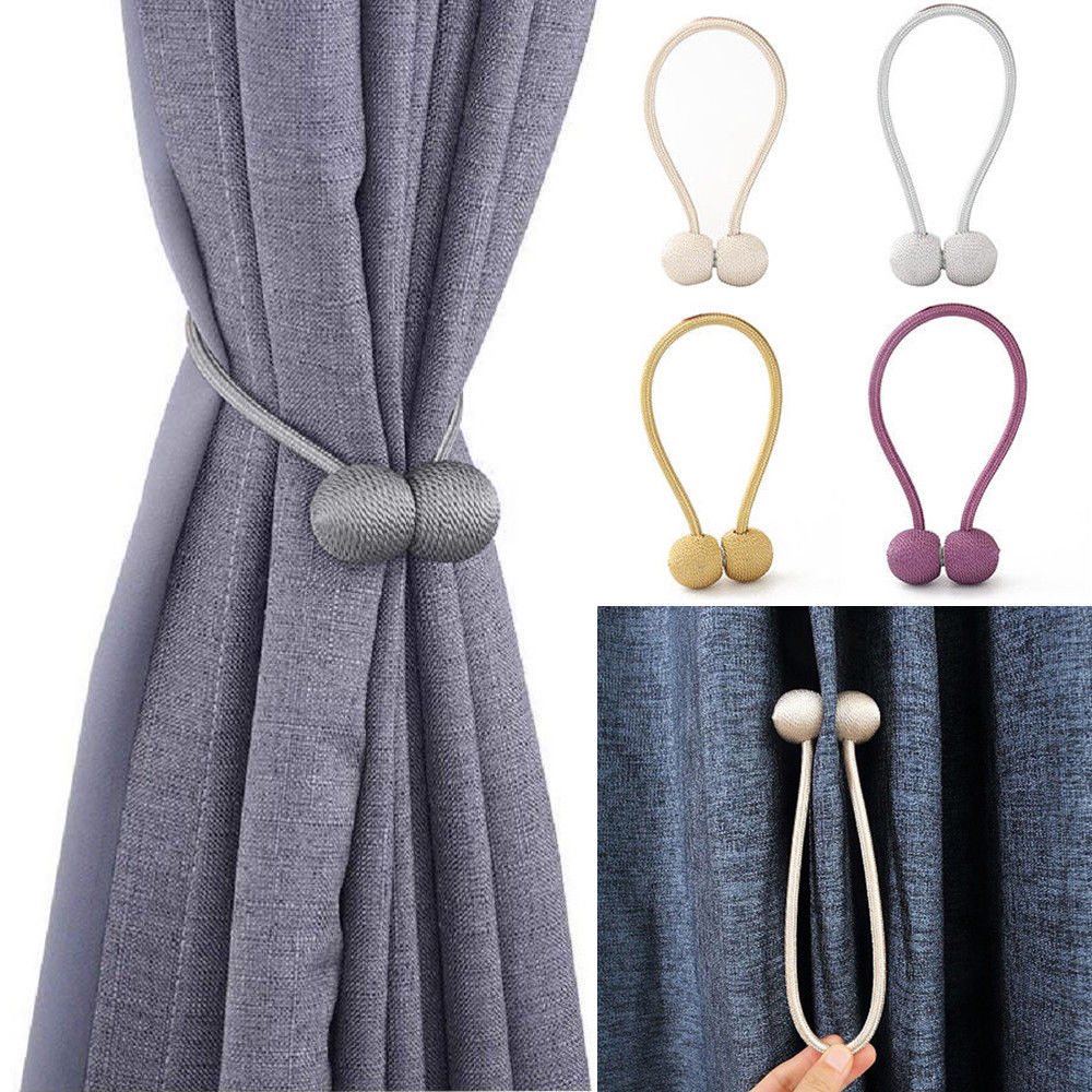 Magnetic Curtain Tiebacks Tie Backs Buckle Clip Holdbacks Home Window Decors CA
