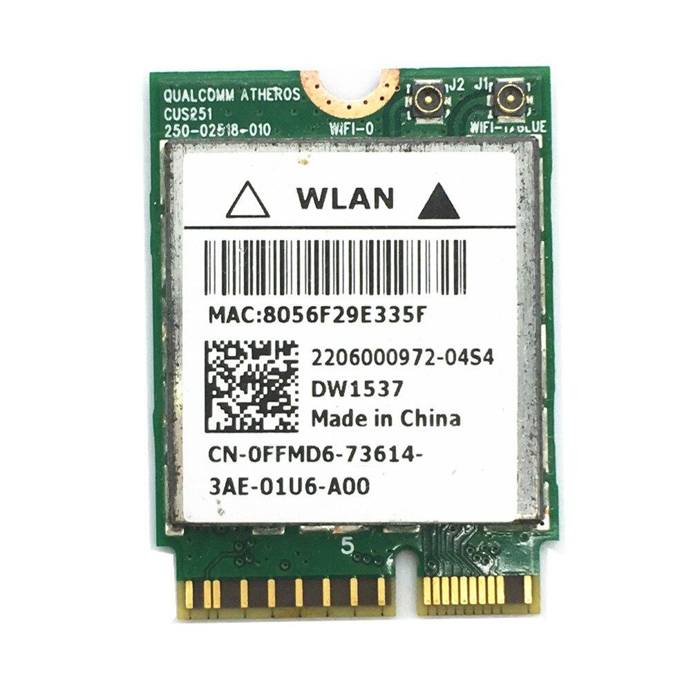 DW1537 Atheros QCSNFA282 802.11 a/b/g/n WIFI 300M+Bluetooth 4.0 M.2 Card for Dell Venue 11 Pro