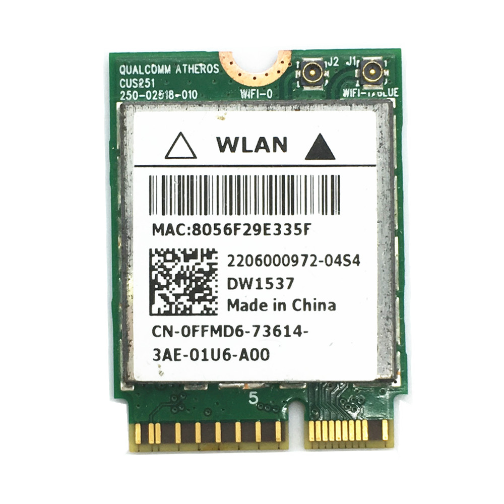 DW1537 Atheros QCSNFA282 802.11 a/b/g/n WiFi 300 m + Bluetooth 4.0 M.2 tarjeta para dell VENUE 11 pro