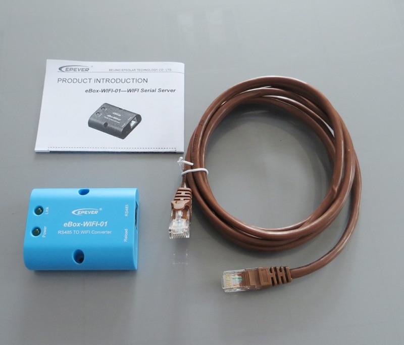 36V MPPT solar controller wifi eBOX MT50 remote Meter ET6415BND 60A 60amps EPEVER Free TNT Shipping 24V/48V Battery Charging