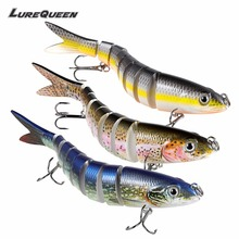 Synthetic bait eight Segments Fishing Lures Multi Jointed Sinking Swimbait 18g Arduous Bait Fishing Deal with  Wobblers lure Crankbait