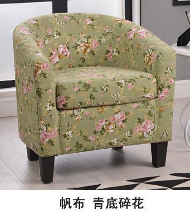 Европейский тканевая одноместная Софа стул интернет кафе кофе небольшой диван гостиничная комната кабинет компьютерный диван стул - Цвет: VIP 8