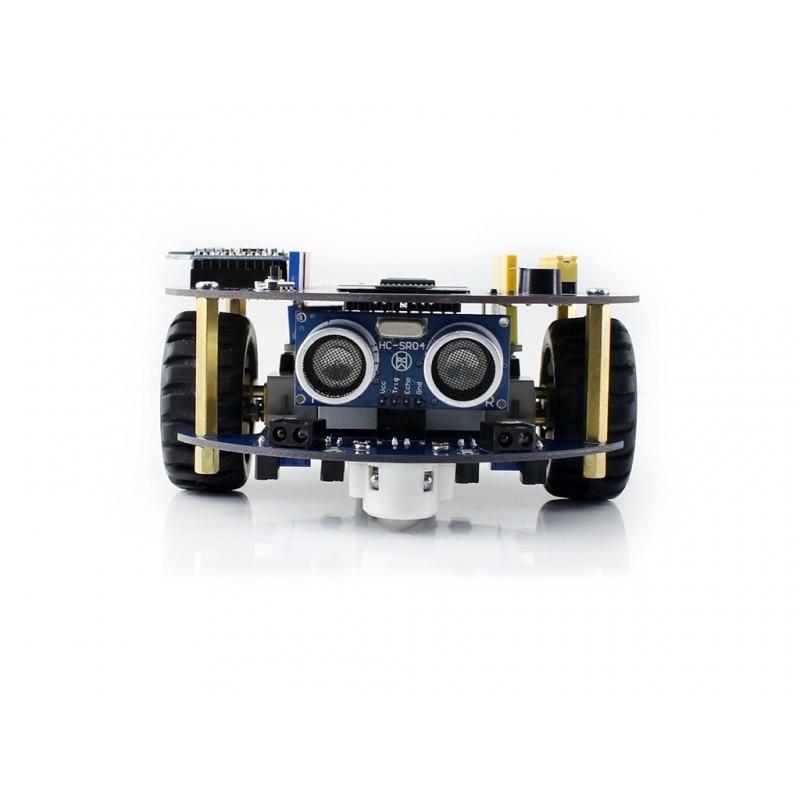 AlphaBot2 Smart Car Robot Building Kit with UNO PLUS Controller Board + Ultrasonic Sensor + IR Remoter + Dual-mode Bluetooth alphabot2 smart car accessory pack robot building kit for uno plus uno r3 with ultrasonic sensor ir remote controller