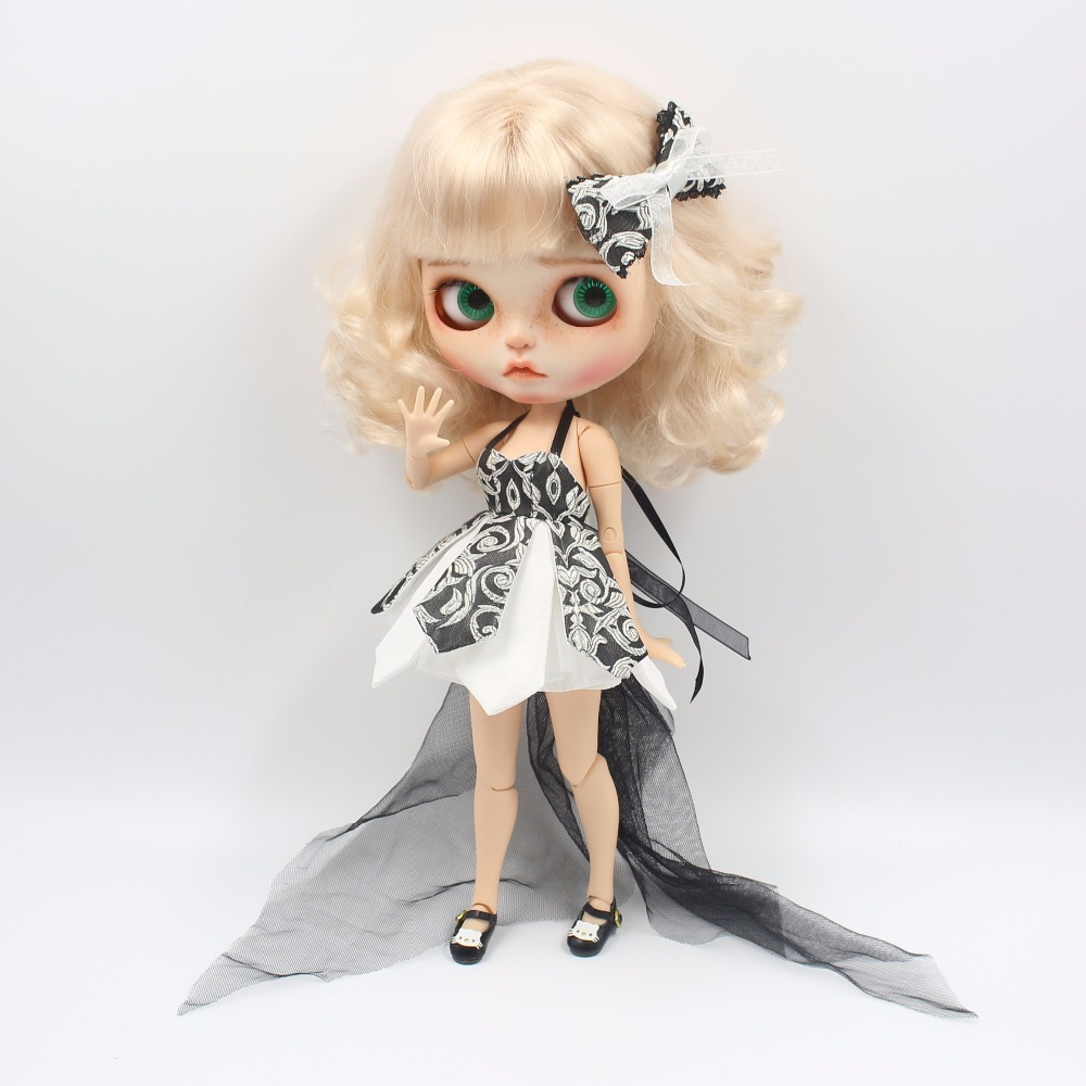 Neo Blythe Doll Beautiful Dress With Bow 1