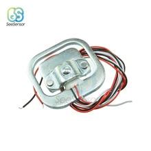 все цены на 4Pcs 50kg Body Load Cell Weight Sensor Resistance Strain Half-bridge Total Weight Scales Sensors Pressure Measurement 34x34mm онлайн