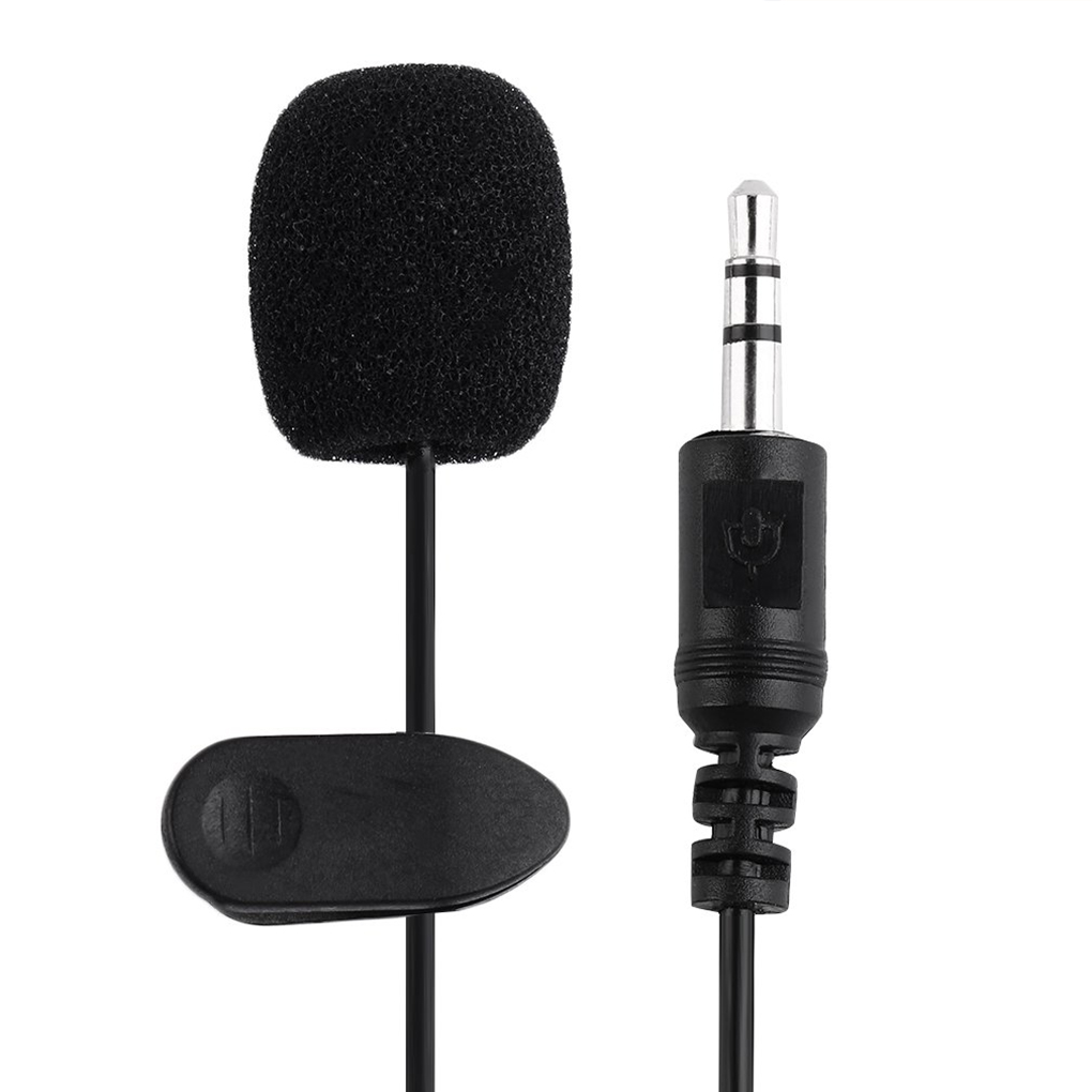 3.5mm Mini Hands Free Microphone Clip On Lapel Teaching Speeching Mic For PC Notebook Laptop Skype