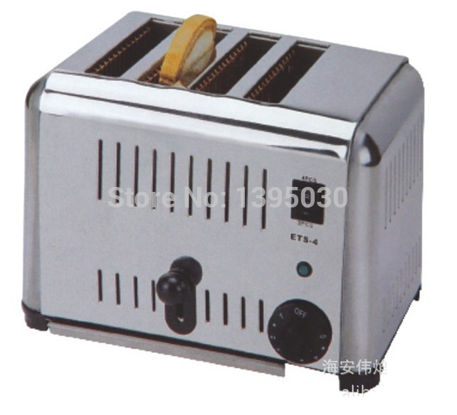 1PC EST 4 Household Automatic Stainless Steel of 4 Slice Toaster Bread Toaster Bread Machine|bread machine|steel stainless|steel t - title=