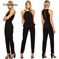 Fashion Jumpsuit Women Lady Black Sleeveless Jumpsuit Bodycon Playsuit Summer Style Sexy Pants Trousers Romper