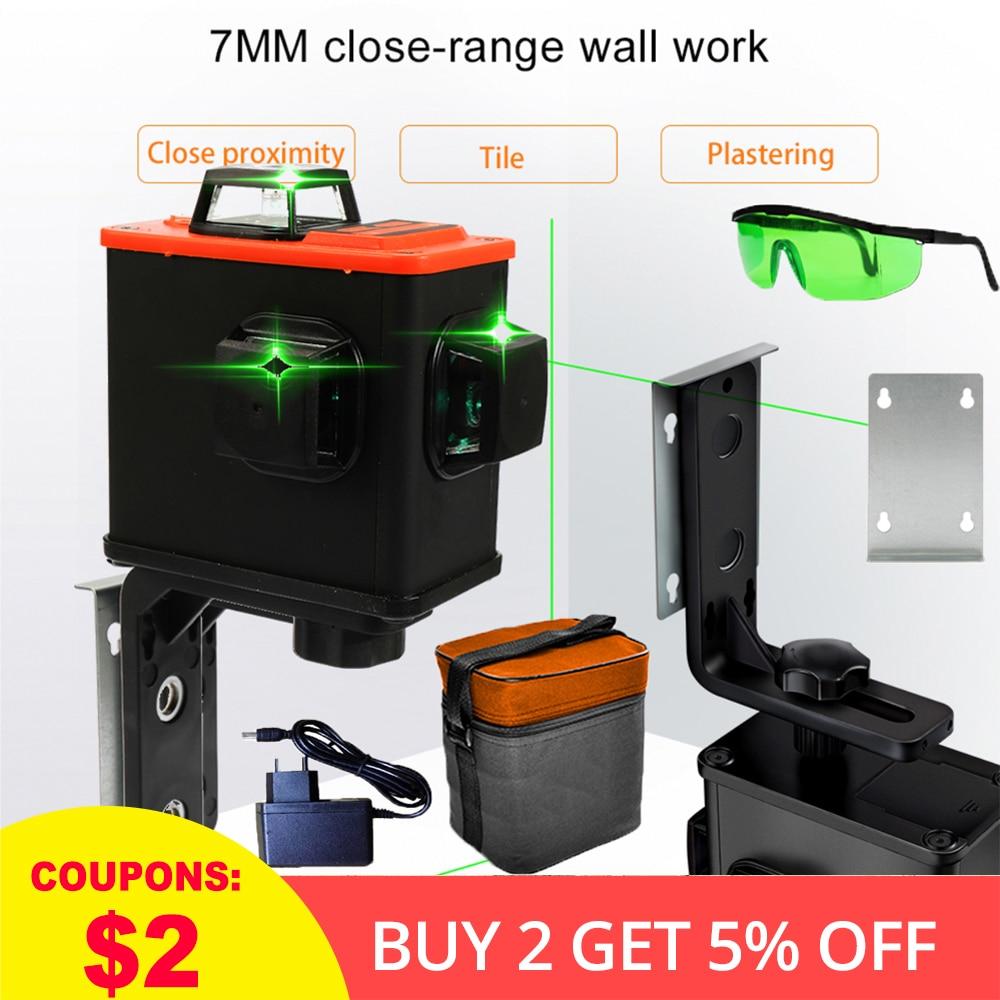 DIY Green 3D Laser Level 360 Degree Self leveling Leveler Laser Leveling Unit High Accuracy Scanister