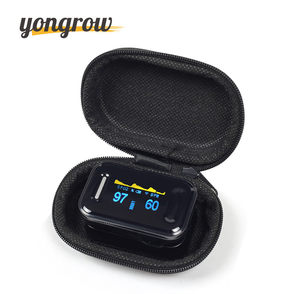 цена на Yongrow Medical CE FDA Fingertip Pulse Oximeter Digital Pulse Oximeter Blood Oxygen Saturation Monitor Health Care Spo2 PR OLED