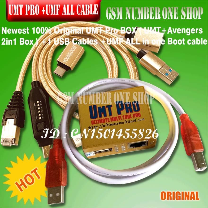 2018 date 100% d'origine UMT Pro boîte UMT + Avengers 2in1 boîte avec 1 câbles USB