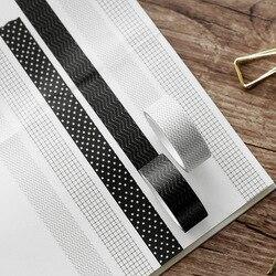 Coleção adesiva decorativa geométrica da fita de papel pegajosa do mascaramento de washi japonês para jornais, scrapbooks, planejadores diários