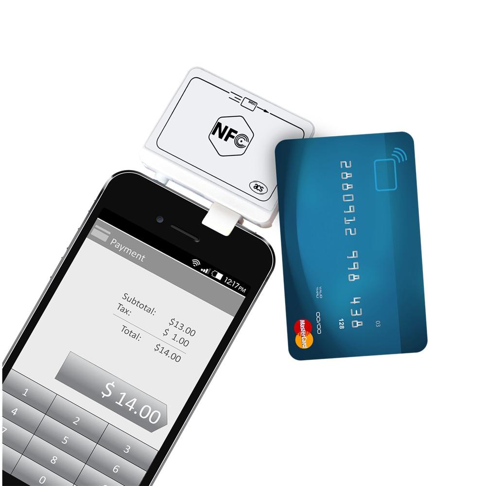 EMV ACR35 NFC MobileMate sans contact lecteur de carte RFID Support S50 & Mag carte et Mobile banque et paiement avec SDK gratuit