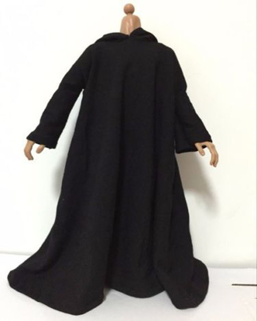 "Holiday Gifts Collections 1/6 Scale Black Cloak Clothing Model Toys For 12"" Action Figure Body Accessory"