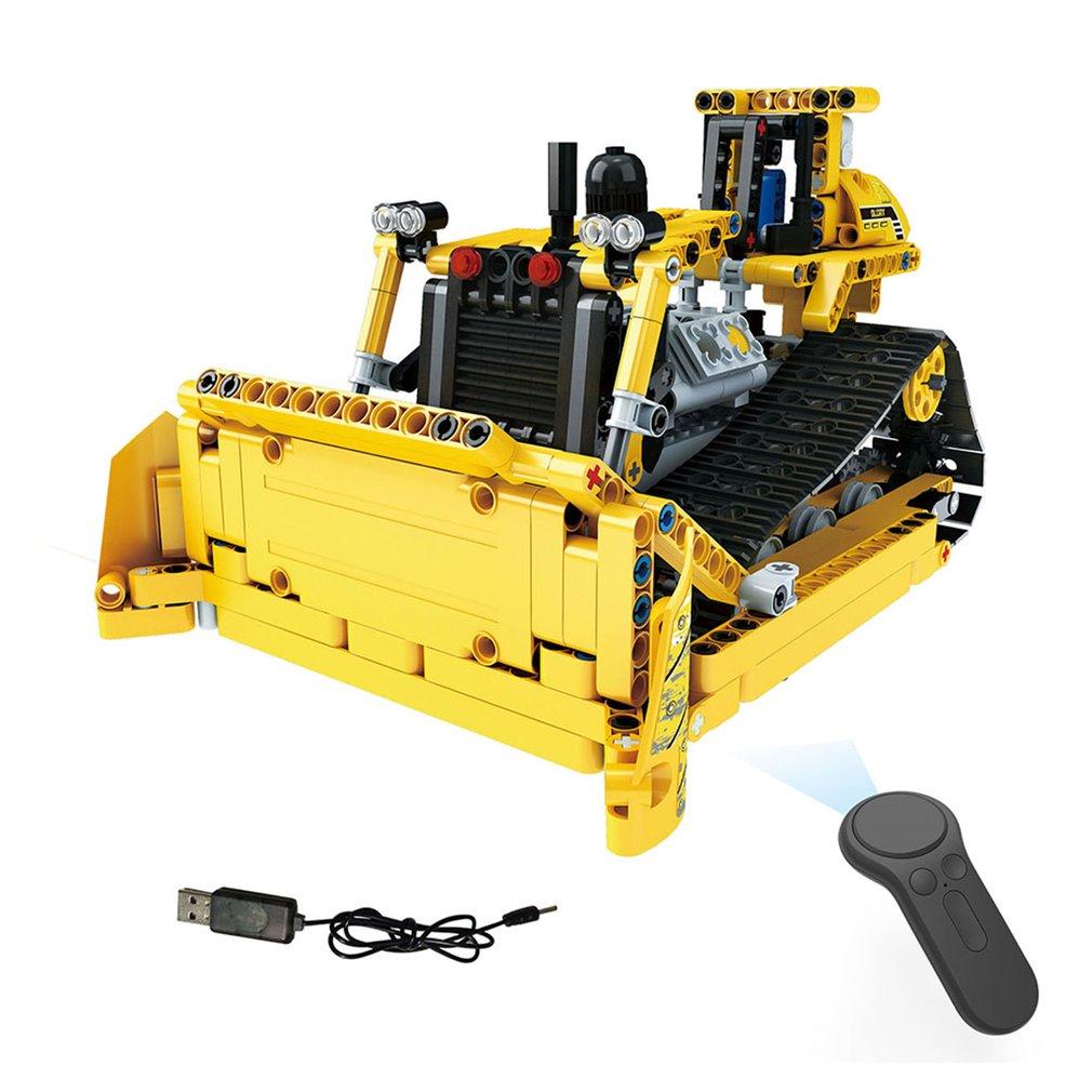Sammeln & Seltenes Hell 2,4g 4 H 535 Stücke Diy Baustein Rc Crawler Bulldozer Lkw Elektrische Rc Auto Usb Lade Für Kinder Bau Fahrzeug Spielzeug Geschenk