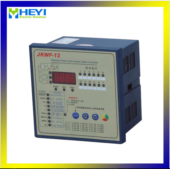 JKWF-12 split phase power factor correction controller 12 step LCD Reactive power automatic compensation controller reactive power automatic compensation