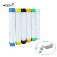 USB Light Rechargeable Portable 3 Level Adjustable Brightness Dimmable SOS Mode 20cm LED Emergency Light Stick