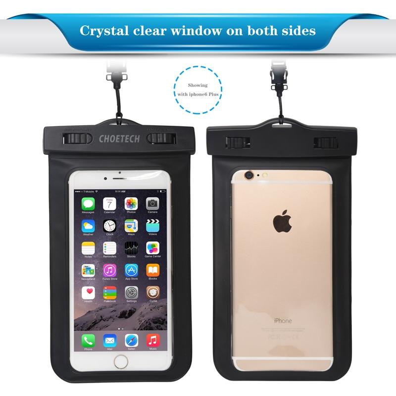 CHOETECH Jelas Tahan Air Tas Ponsel Dengan Tali untuk iPhone 11 X XS - Aksesori dan suku cadang ponsel - Foto 2