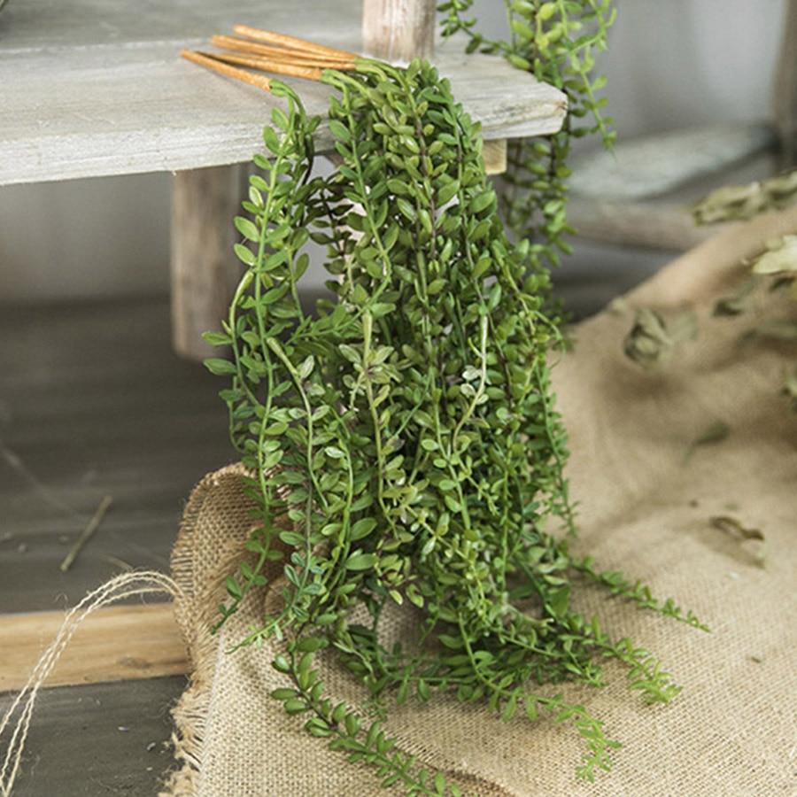 Искусственные суккуленты, подвесные настенные растения, жемчуг, мясистые лозы, зеленые ветки, украшение для дома, пластиковая гирлянда, Сва...