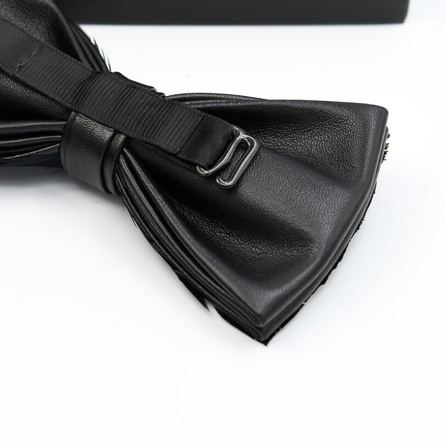 Mens Luxury Leather Bow Tie