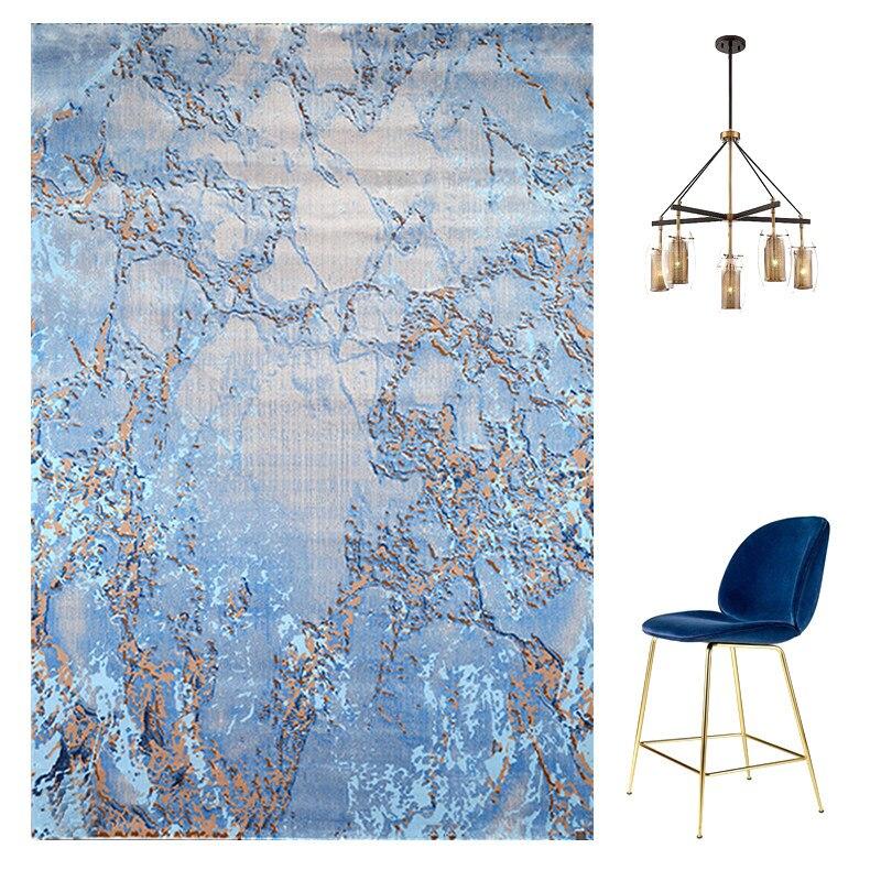 Turkey Imported Carpet Livingroom Blue Series Bedroom Carpet Sofa Coffee Table Rug Study/Dining Room Floor Mat Nordic Fresh Rugs