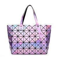 2018 new design fashion bolsa femina hot famous designer diamond lattice pu women handbag change color ladies geometric bags