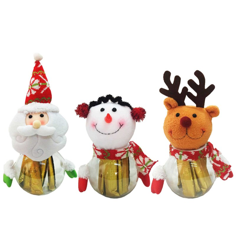 Cute Christmas Decorations Santa Claus Elk Snowman Candy ...