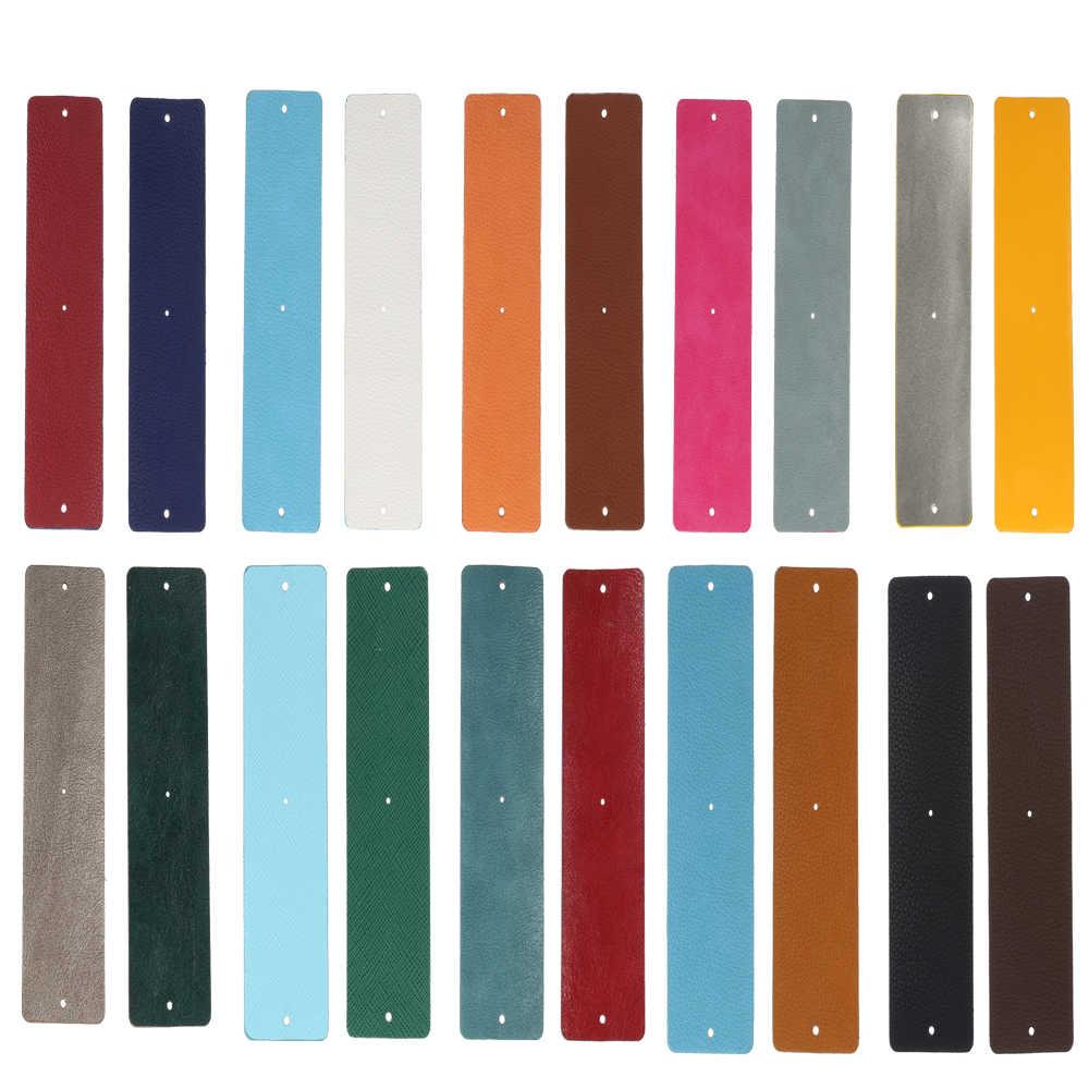 Legenstar, 10 colores, cuero de PU, banda de cuero Reversible, accesorio de joyería para brazalete de acero inoxidable personalizado para mujeres