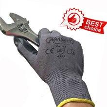 Нм Предметы безопасности 13 калибровочных серый черный нейлон нитрил погружением рабочая обувь Анто ремонт Перчатки