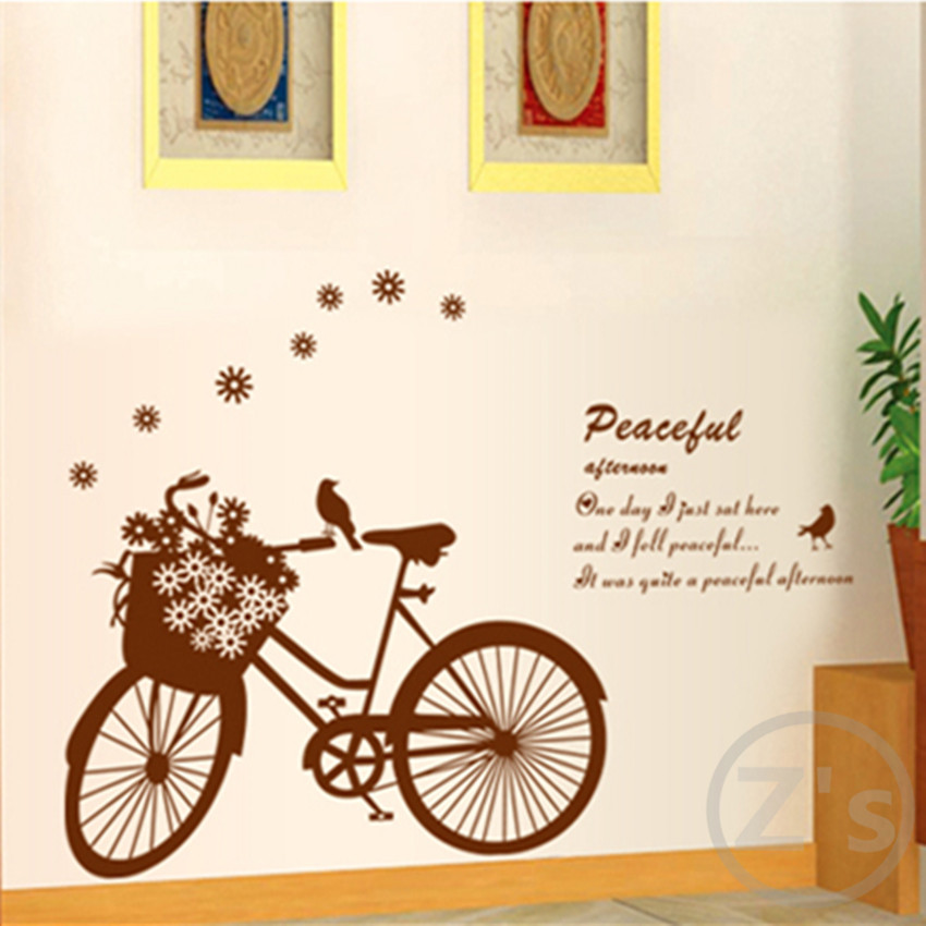 Aliexpress Com Buy Bike Decoration Stickers Bicycle Decal Wall Sticker Home Decor Diy Adhesive Art Mural Picture Poster Removable Vinyl Ay7021 From