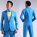 Costumes photographed Suit Men Long-Sleeved Men's Suits Dress Hosted Theatrical Tuxedos For Men Wedding Prom Television Clothing