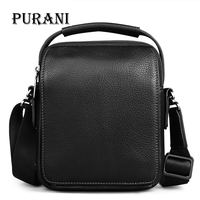 PURANI New Arrival Fashion Business Genuine Leather Men Messenger Bags Promotional Small Crossbody Bags Shoulder Bag Casual Male